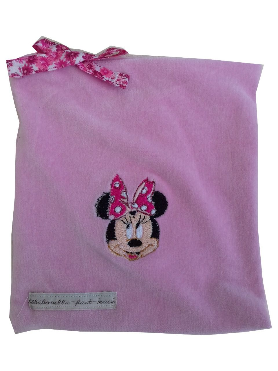 Doudou Minnie ,attache tétine personnalisable
